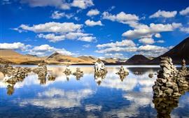 Aperçu fond d'écran Sijinlacuo, lac, Tibet