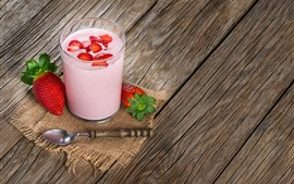 Preview wallpaper Smoothies, drink, strawberry