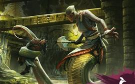 Monstro de cobra, imagens de arte