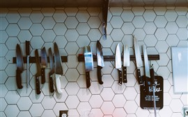 Some knives, wall