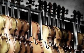 Preview wallpaper Some violins, music theme