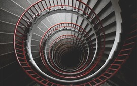 Escaleras de caracol, altas.