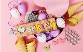 Preview wallpaper Spring, Easter eggs, decoration