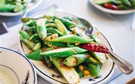 Preview wallpaper Stir-fried asparagus