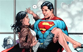 Preview wallpaper Superman and girl, DC comics