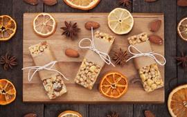 Aperçu fond d'écran Biscuits sucrés, épices, tranches d'orange, noix