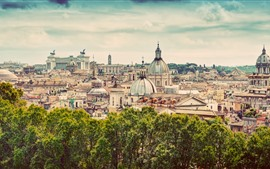 Preview wallpaper Travel to Rome, Italy, Europe, city view