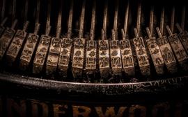 Fotografía macro de la máquina de escribir
