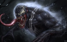 Preview wallpaper Venom, drool, Marvel Comics