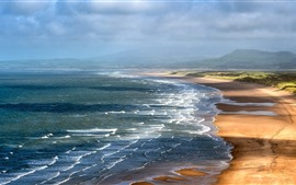 Preview wallpaper Wales, sea, coast, nature landscape