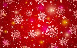 Preview wallpaper White snowflakes, red background