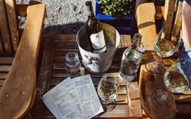 Vorschau des Hintergrundbilder Wein, Flasche, Glasbecher, Eimer