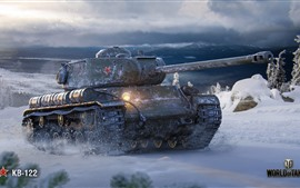 Preview wallpaper World of Tanks, Soviet tank, snow, winter