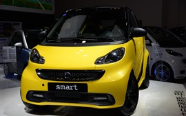 Preview wallpaper Yellow Smart Fortwo car