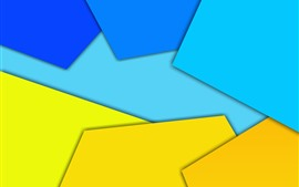 Preview wallpaper Yellow and blue geometric figure, abstract picture