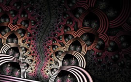 Preview wallpaper Abstract pattern, darkness, creative design