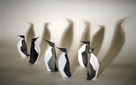 Preview wallpaper Art origami, penguins