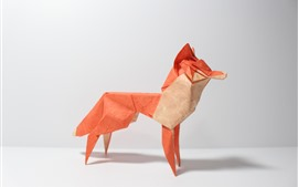 Art origami, red fox