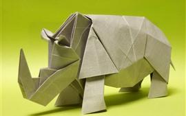 Aperçu fond d'écran Origami d'art, rhinocéros