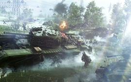 Battlefield 5, солдаты, танки