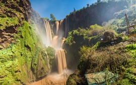 Preview wallpaper Beautiful waterfalls in Morocco