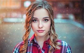 Vorschau des Hintergrundbilder Schönes junges Mädchen, blond, Regen