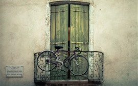 Preview wallpaper Bike, balcony, door