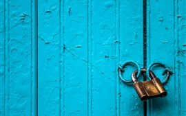 Preview wallpaper Blue door, lock