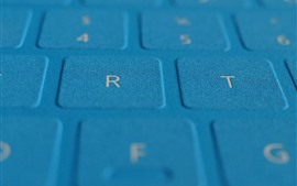 Preview wallpaper Blue keyboard surface close-up