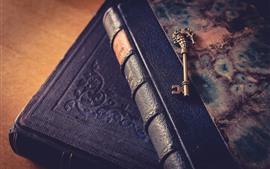 Books and key, still life