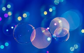 Bubbles, blue background