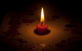 Vela, llama, fuego, oscuridad.