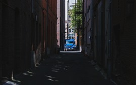 Preview wallpaper City, alley, car