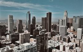 Ciudad, rascacielos, vista superior, edificios.