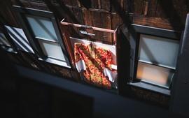 壁紙のプレビュー 衣服、窓、日差し