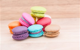 Preview wallpaper Colorful macarons, cakes, food