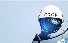 Cosmonaut, space, art picture