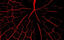 Preview wallpaper Cracks, black and red, abstract