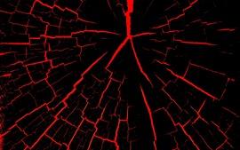 Grietas, negras y rojas, abstractas.