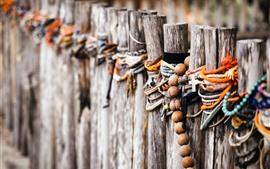 Забор, украшение, веревка