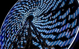 Preview wallpaper Ferris wheel at night, lights