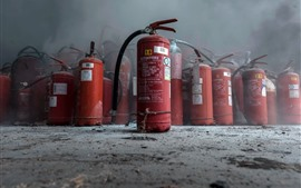 Preview wallpaper Fire extinguishers, dust