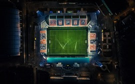 Aperçu fond d'écran Stade de football, vue de dessus, nuit