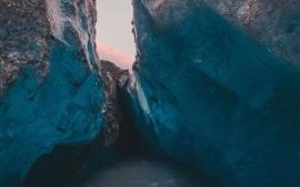 Glacier, ice, rocks, cold
