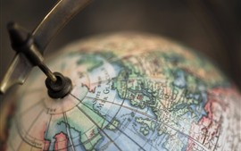Preview wallpaper Globe model, blurry