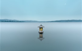 Lago Oeste de Hangzhou, névoa, manhã