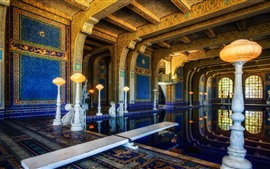 Hearst castle, interior, piscina, EUA