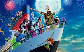 Preview wallpaper Hotel Transylvania 3, ship, fireworks