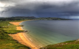 Preview wallpaper Ireland, Donegal, sea, coast, beach