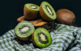 Preview wallpaper Kiwi, cutted, green, fresh fruit